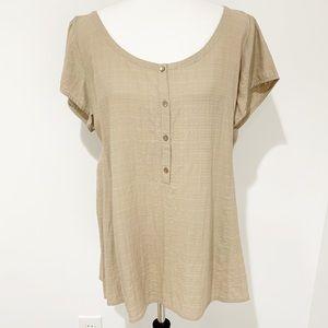 Eileen Fisher linen blend summer top Sz XL NWT